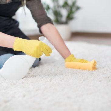 De beste manier om een plas- of sproei plek schoon te maken.